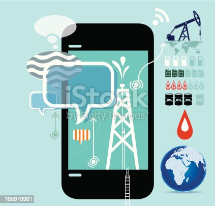 istock Oil production drilling, mining, and refining 165979981
