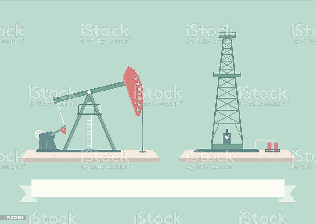 Oil Pump Design Elements royalty-free stock vector art