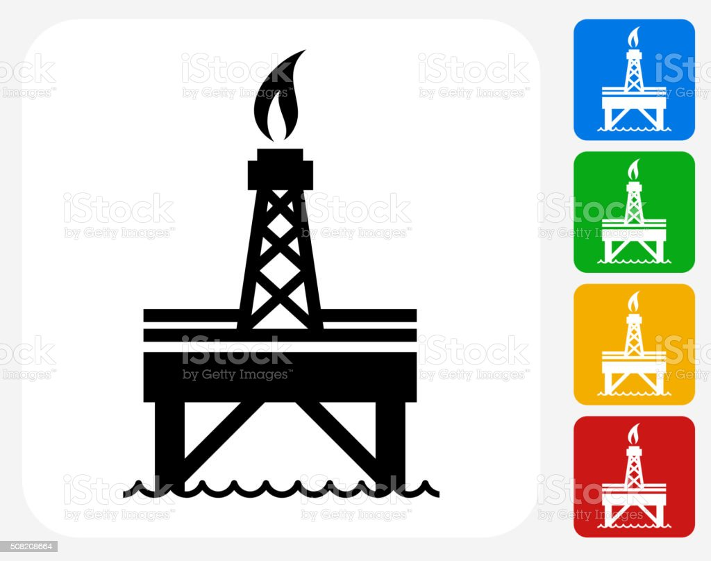 Oil Pump Icon Flat Graphic Design vector art illustration