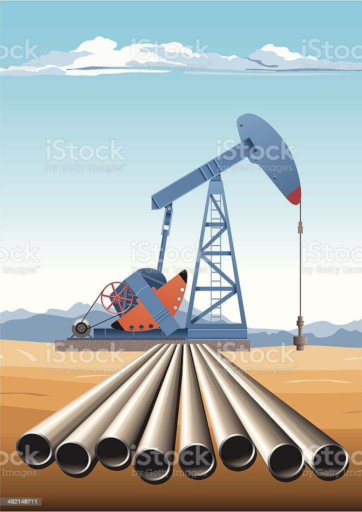 Oil Pump Jack Pipes royalty-free oil pump jack pipes stock vector art & more images of air pollution