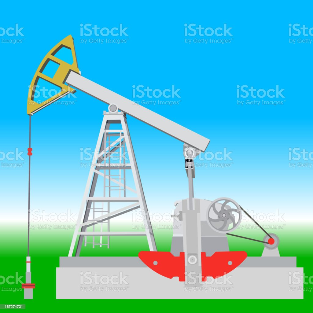 Oil pump jack royalty-free oil pump jack stock vector art & more images of crude oil