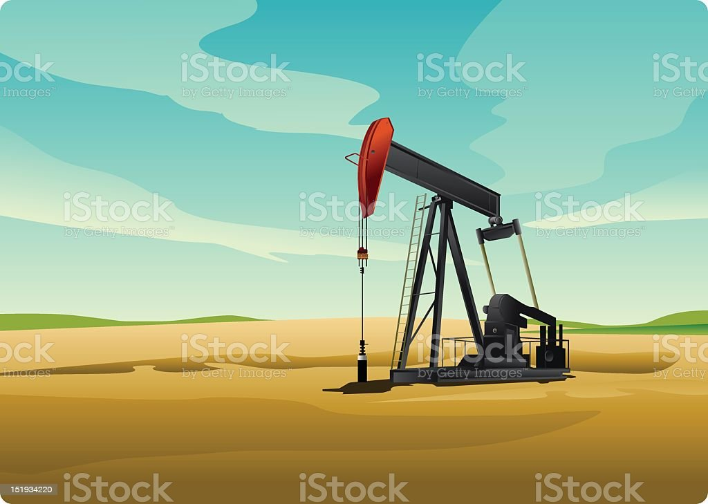 Oil pump on the yellow sand in the daylight royalty-free oil pump on the yellow sand in the daylight stock vector art & more images of asian and indian ethnicities