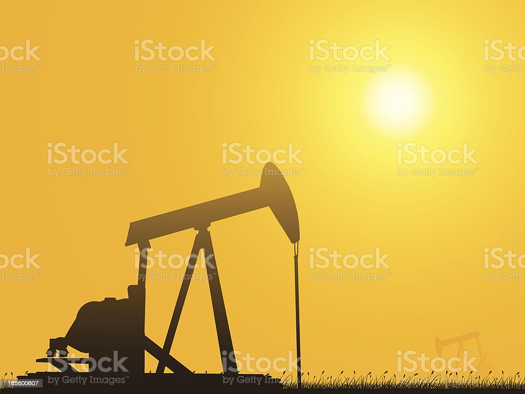 Oil Pump Sunset royalty-free oil pump sunset stock vector art & more images of cartoon