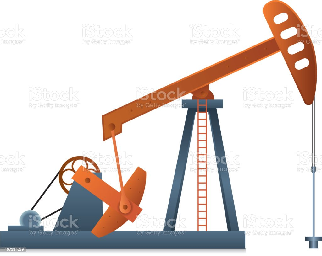 Oil Pump royalty-free oil pump stock vector art & more images of crude oil