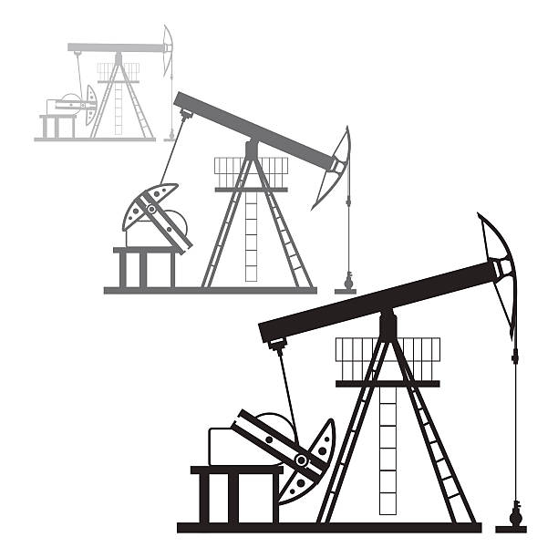 Royalty Free Water Well Pump Jack Clip Art Vector Images