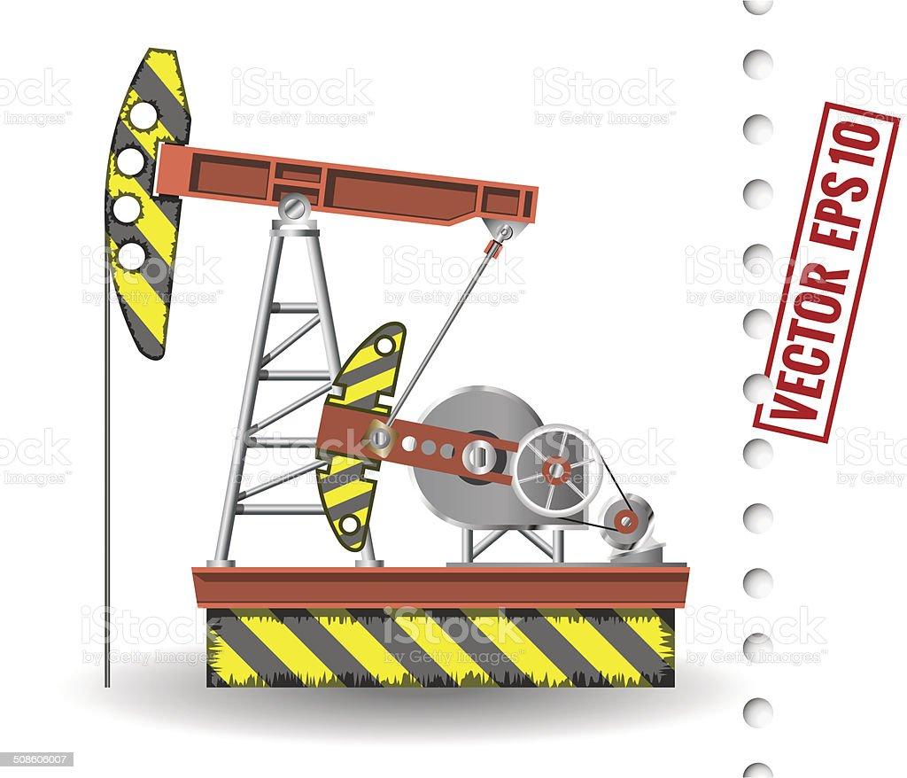 oil pump vector art illustration