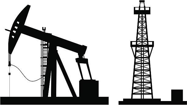 oil pump - kule stock illustrations