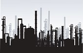 Oil Refinery Plant is a vector illustration.