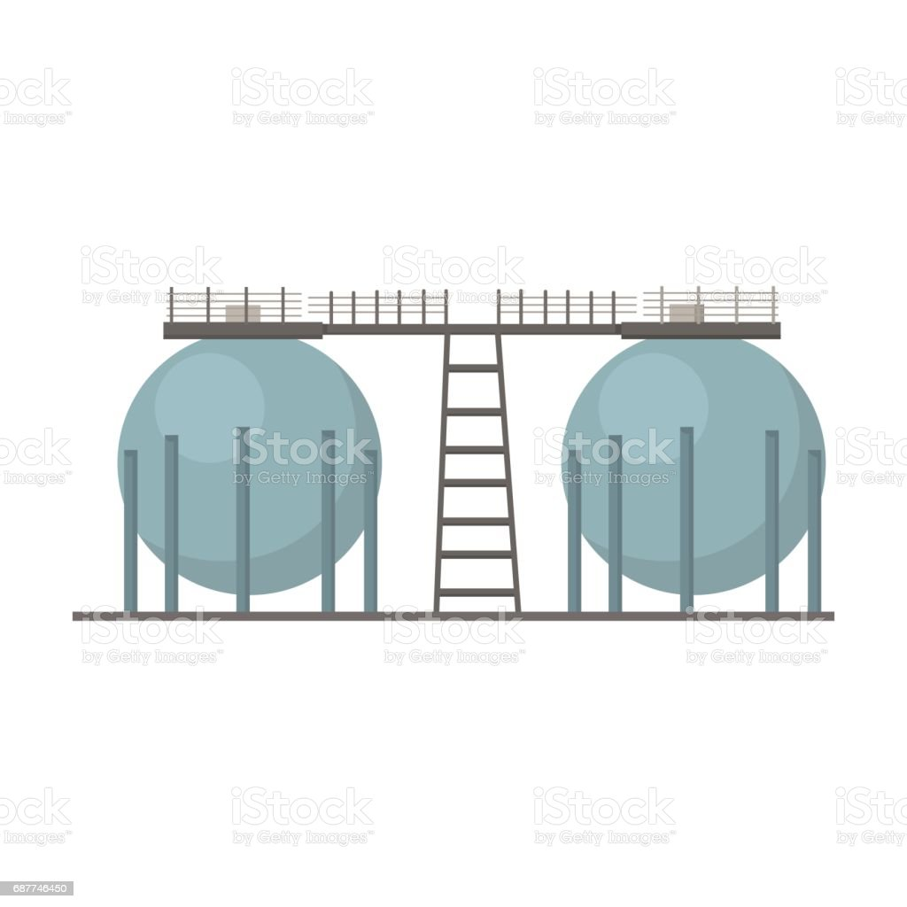 Oil refinery tank icon in cartoon style isolated on white oil refinery tank icon in cartoon style isolated on white background oil industry symbol stock biocorpaavc Gallery