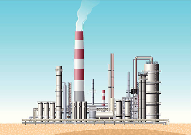 Royalty Free Oil Refinery Clip Art, Vector Images ...