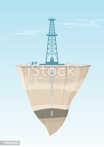 istock Oil Rig Cross Section 186999564