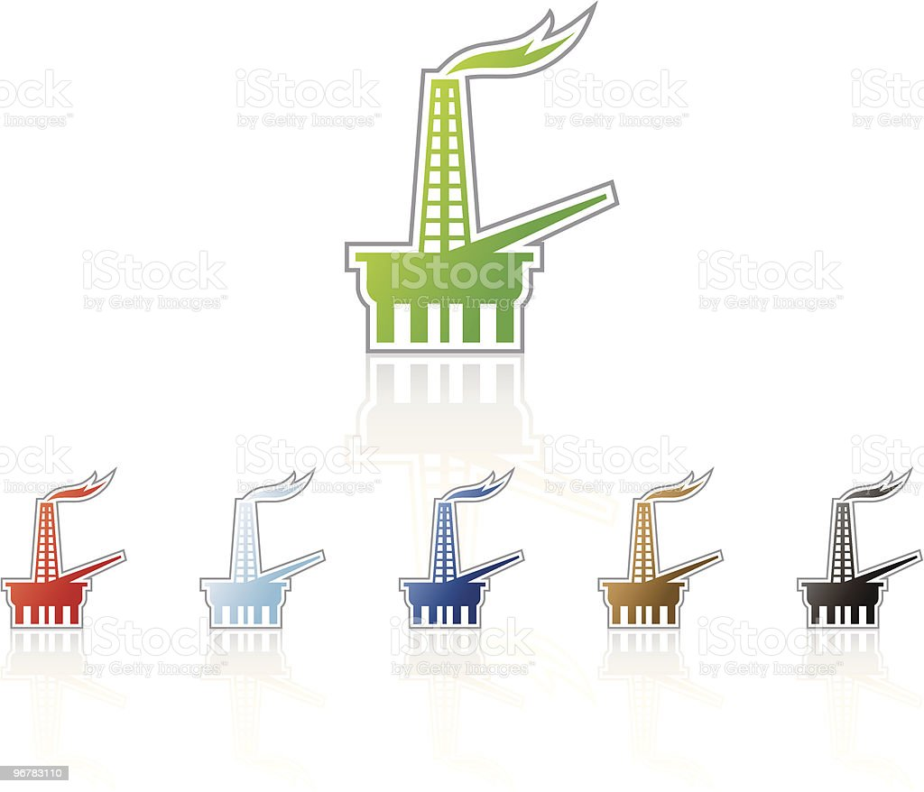 Oil Rig Icon royalty-free stock vector art