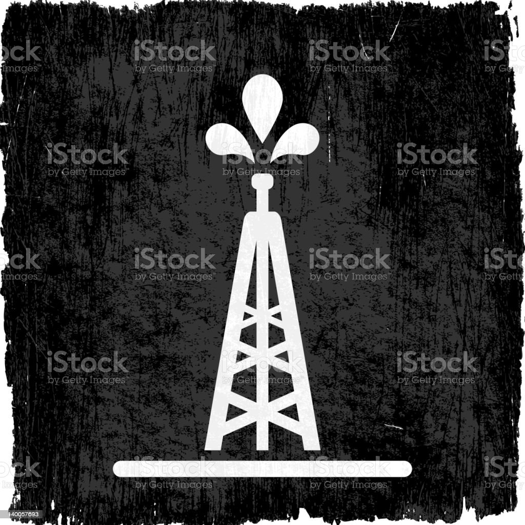 oil rig on royalty free vector Background royalty-free stock vector art