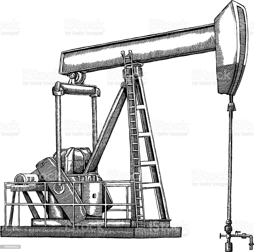 Oil Rig royalty-free oil rig stock vector art & more images of black and white