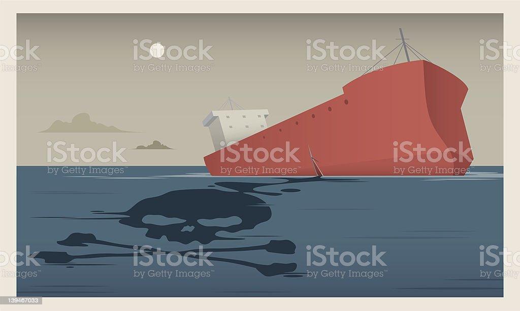 Oil Slick! royalty-free stock vector art