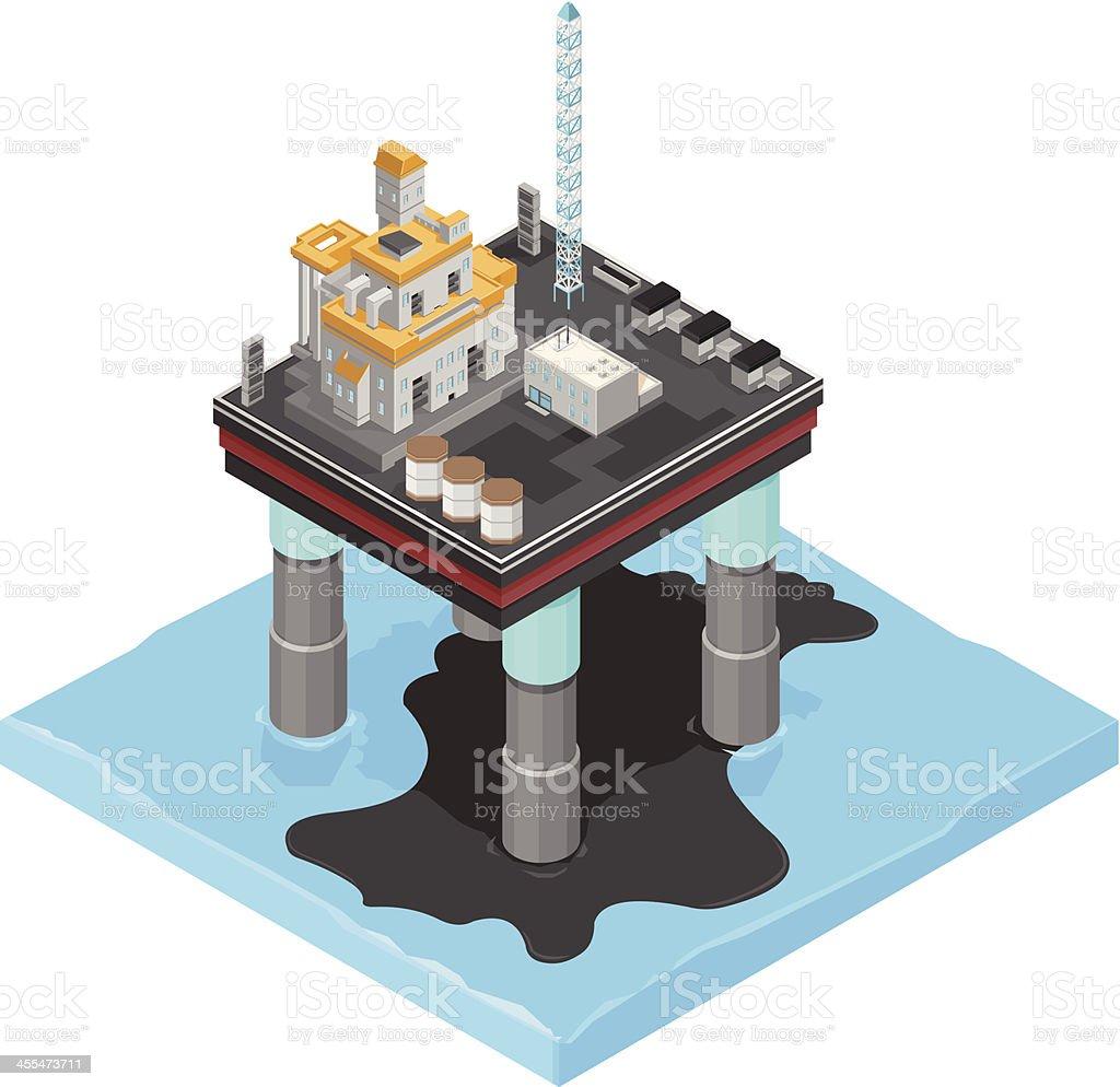 Oil Slick vector art illustration