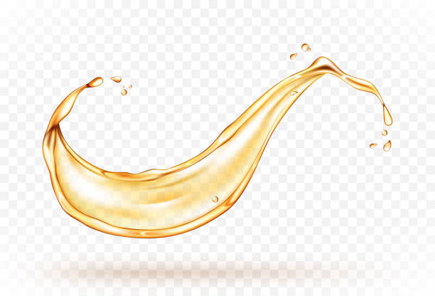 illustrazioni stock, clip art, cartoni animati e icone di tendenza di oil splash isolated on white background. realistic vector illustration - benzina