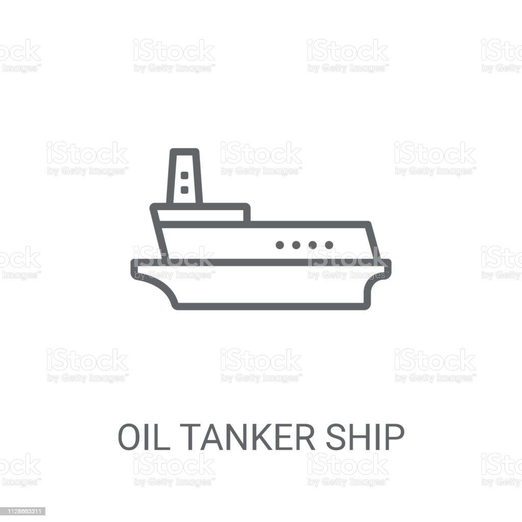 Oil Tanker ship icon. Trendy Oil Tanker ship logo concept on white...