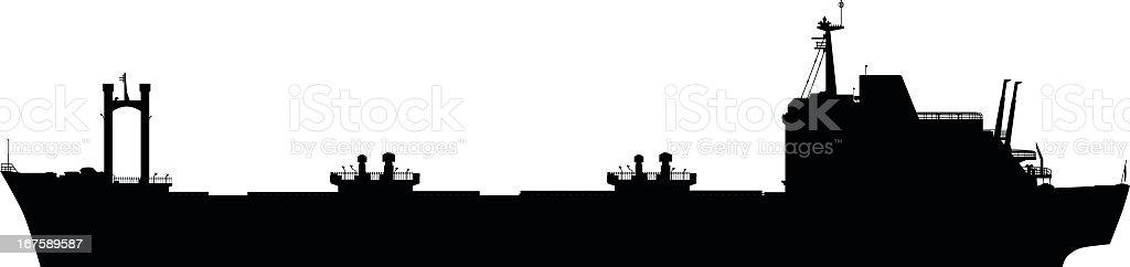Oil Tanker vector art illustration