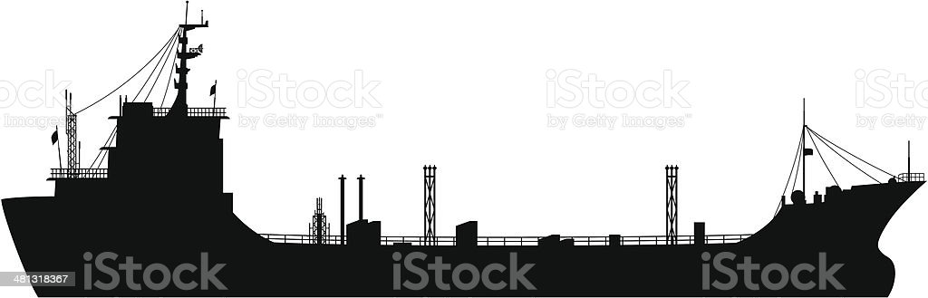 Oil Tanker vector art illustration