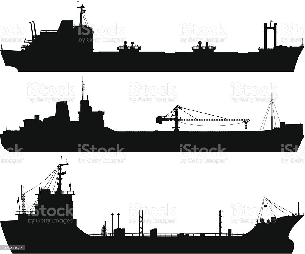 Oil Tankers vector art illustration