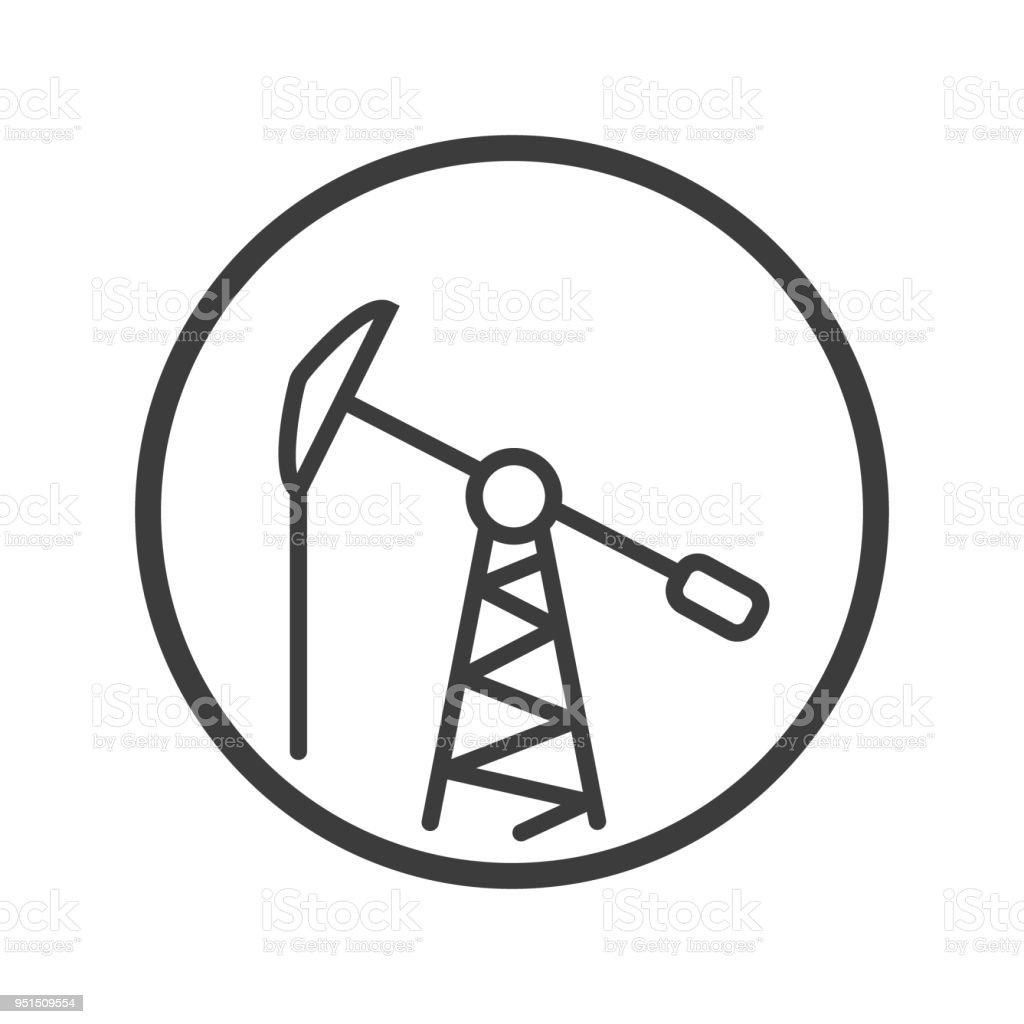 Ölturmsymbol In Den Runden Rahmen Stock Vektor Art und mehr Bilder ...
