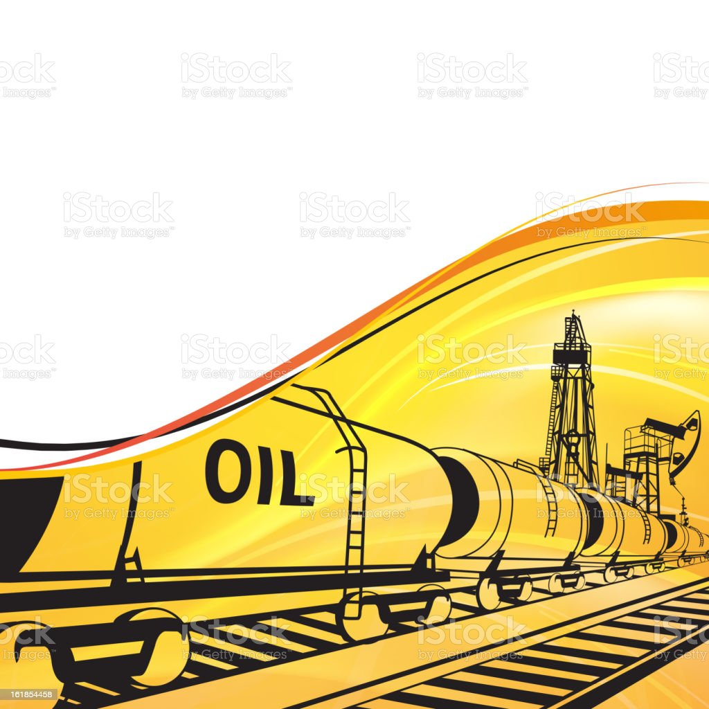 Oil transportation banner royalty-free stock vector art
