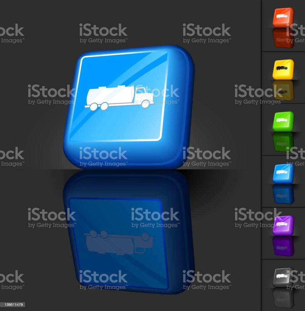 oil truck 3D button design royalty-free oil truck 3d button design stock vector art & more images of black color