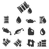 Oil vector icon , vector illustration