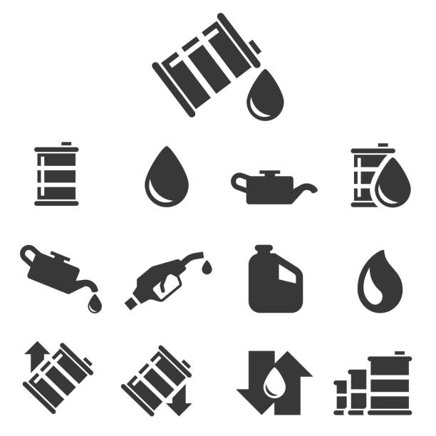 stockillustraties, clipart, cartoons en iconen met olie vector pictogram - oil