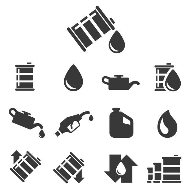 Oil vector icon Oil vector icon , vector illustration oil drum stock illustrations