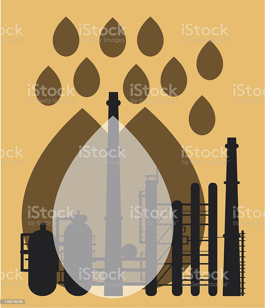 Oil royalty-free stock vector art