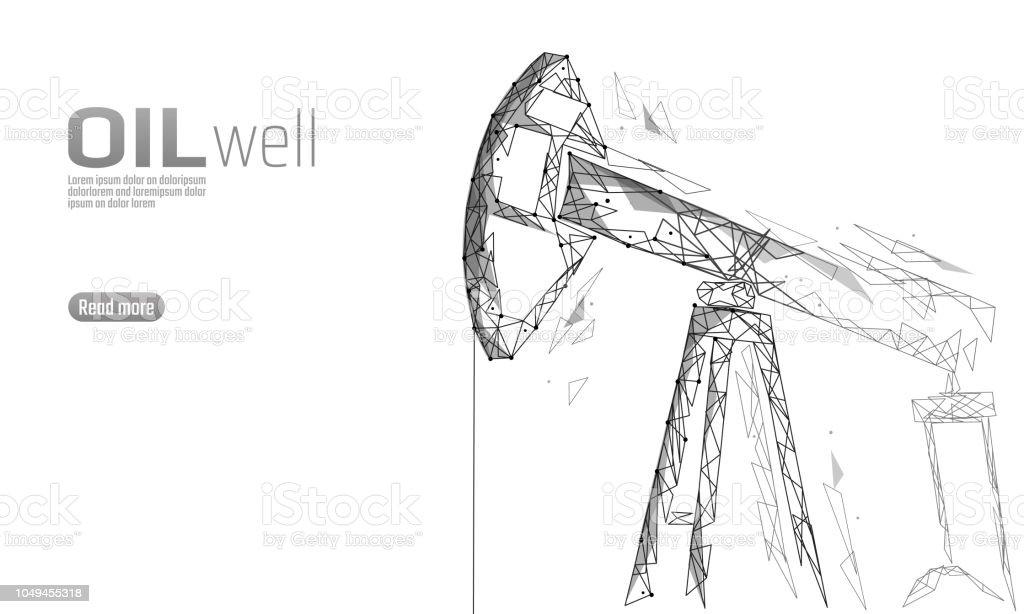 Ilustración de Pozo De Petróleo Plataforma Juck Poly Bajo Concepto ...