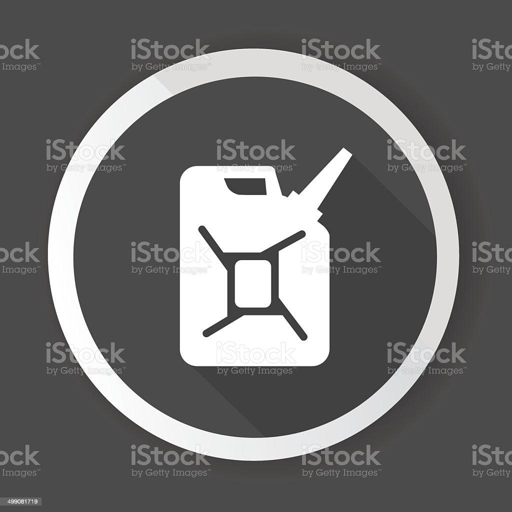 Oil,Black button,vector vector art illustration