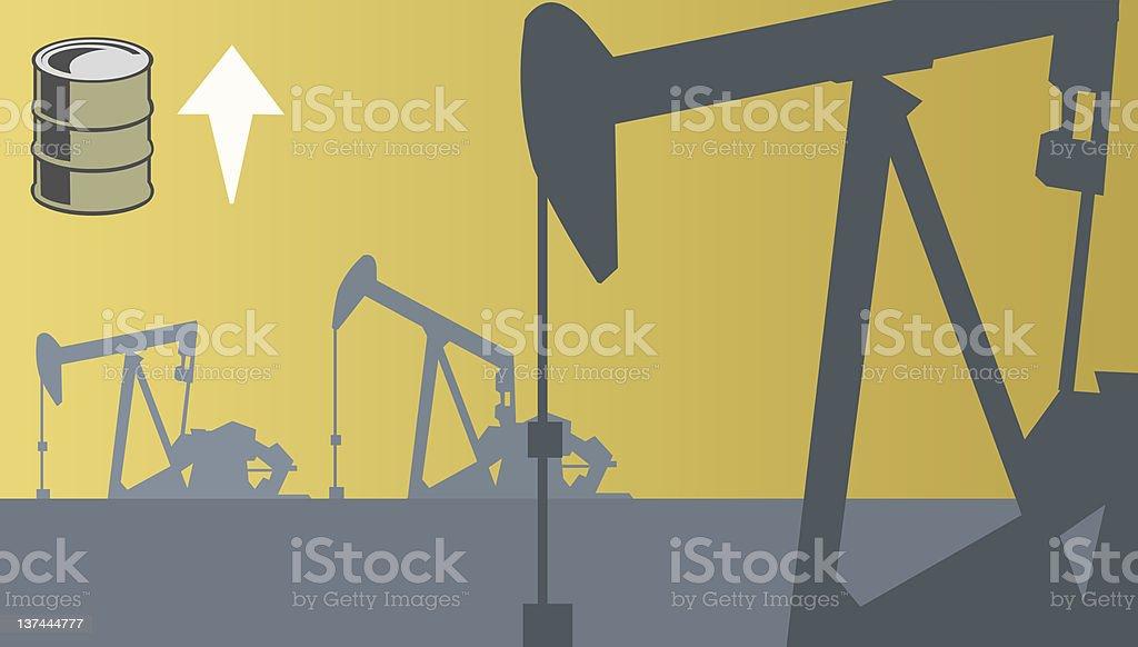 oilfields royalty-free stock vector art