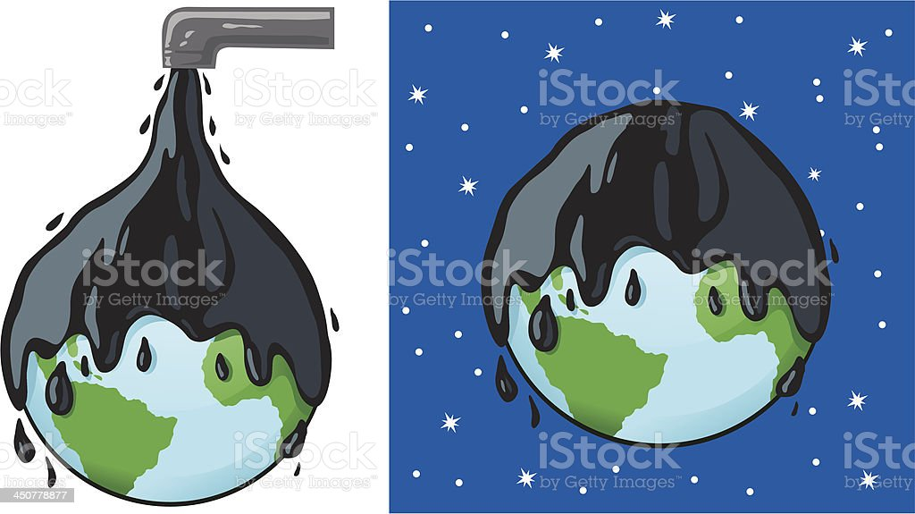 Oily planet royalty-free stock vector art