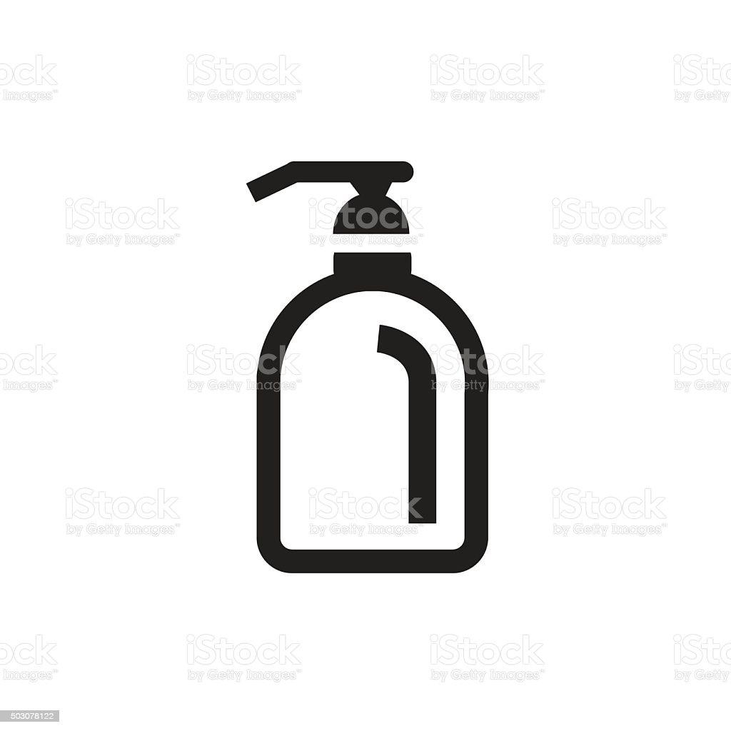Oily Skin Icon vector art illustration