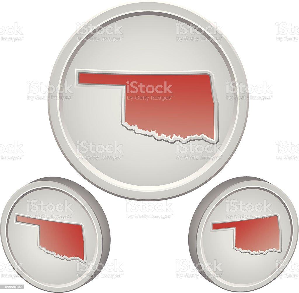 Oklahoma Button royalty-free stock vector art