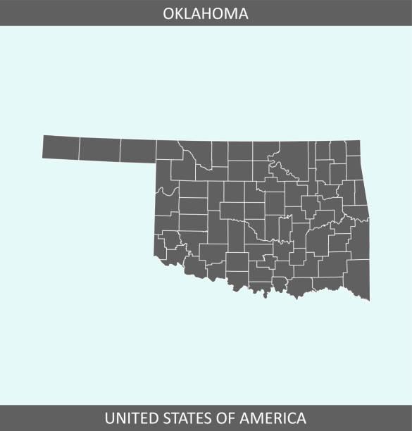 illustrazioni stock, clip art, cartoni animati e icone di tendenza di oklahoma county map - erba medica
