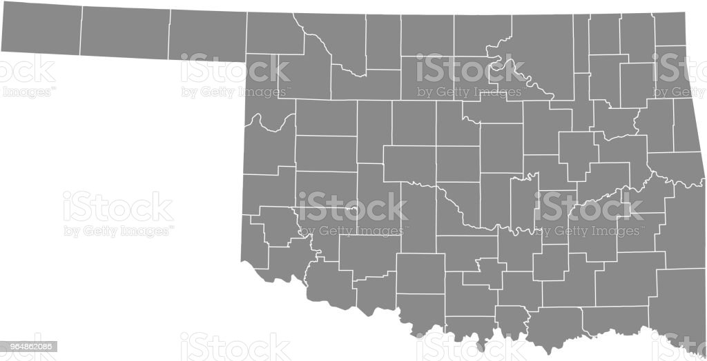 Oklahoma county map vector outline gray background. Map of Oklahoma state of United States of America with counties borders royalty-free oklahoma county map vector outline gray background map of oklahoma state of united states of america with counties borders stock vector art & more images of alfalfa