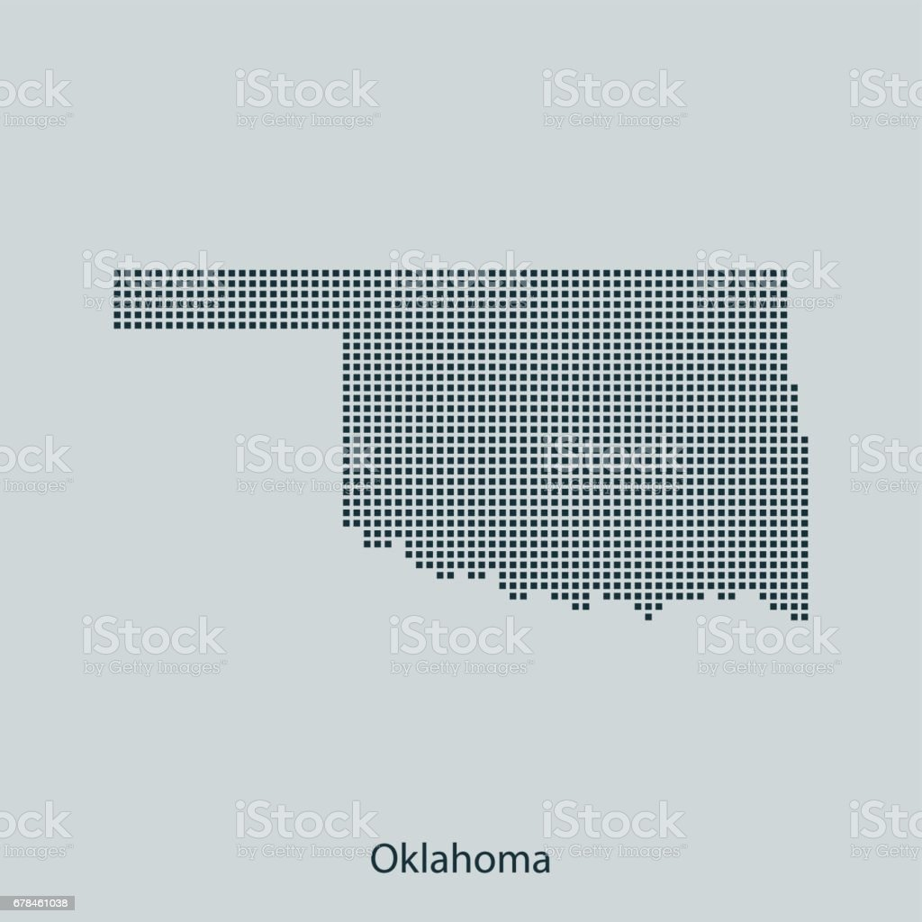 Oklahoma map royalty-free oklahoma map stock vector art & more images of black color