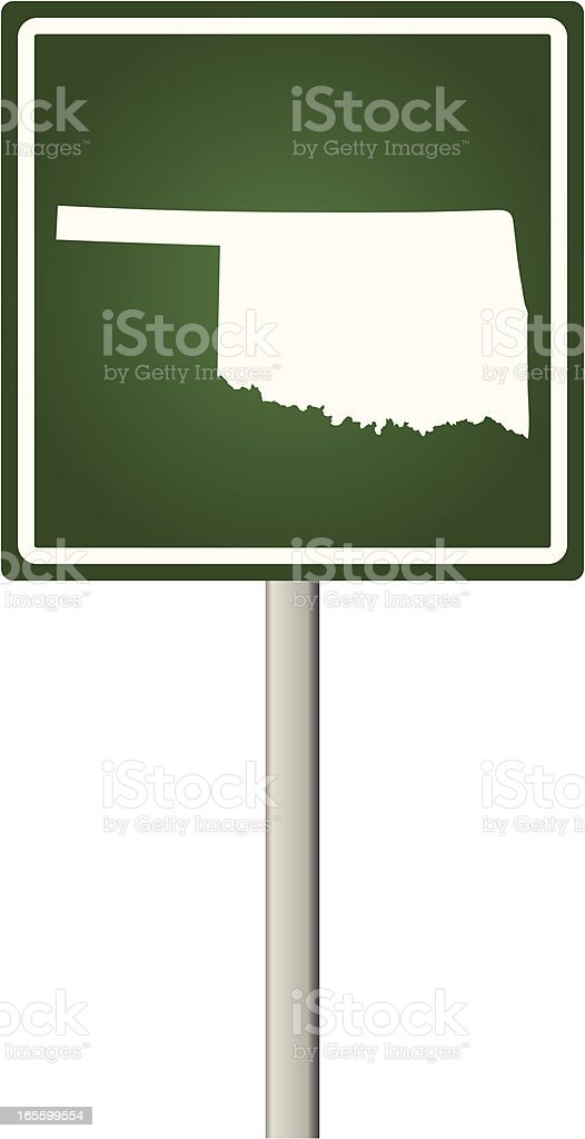 Oklahoma Sign royalty-free stock vector art