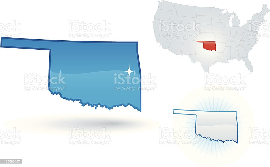 Oklahoma State royalty-free stock vector art