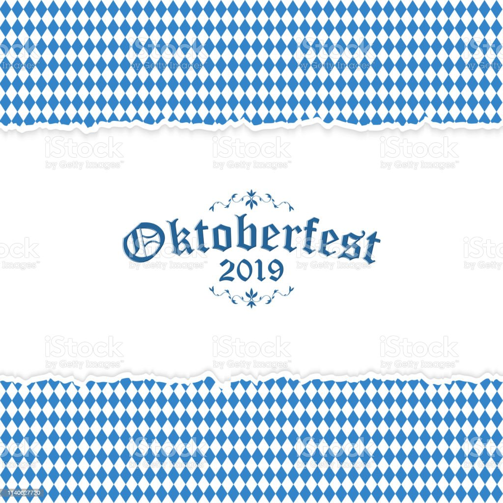 Oktoberfest 2019 Background With Ripped Paper Stock Illustration