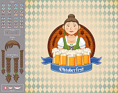 "This illustration is a background of the text for ""Oktoberfest""."