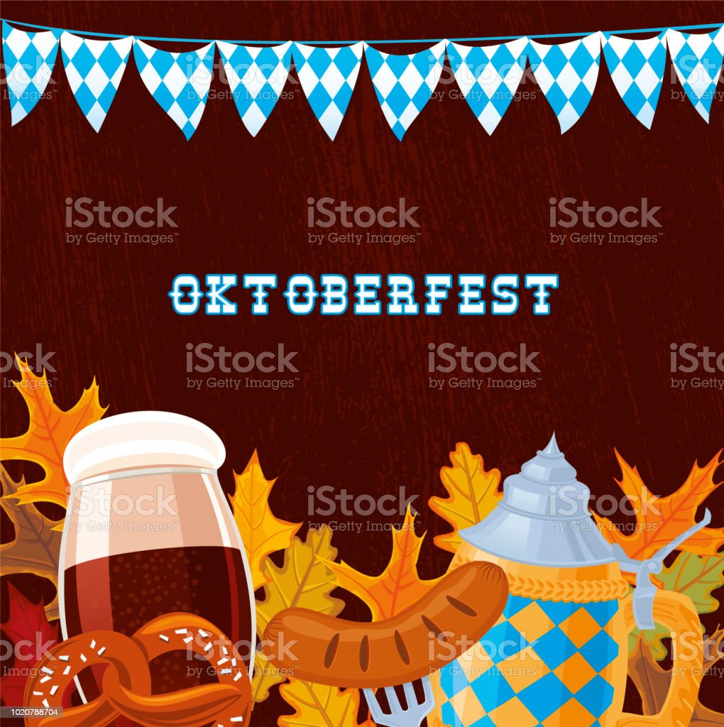 Oktoberfest Banner vector art illustration