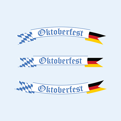 Oktoberfest banners. Decorations for the beer festival