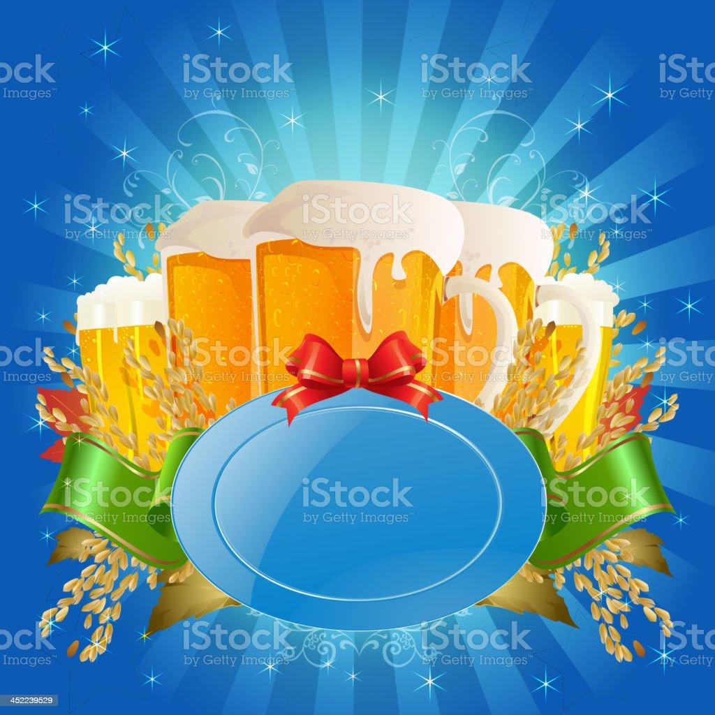 Oktoberfest Beer Celebration Background royalty-free oktoberfest beer celebration background stock vector art & more images of beer - alcohol