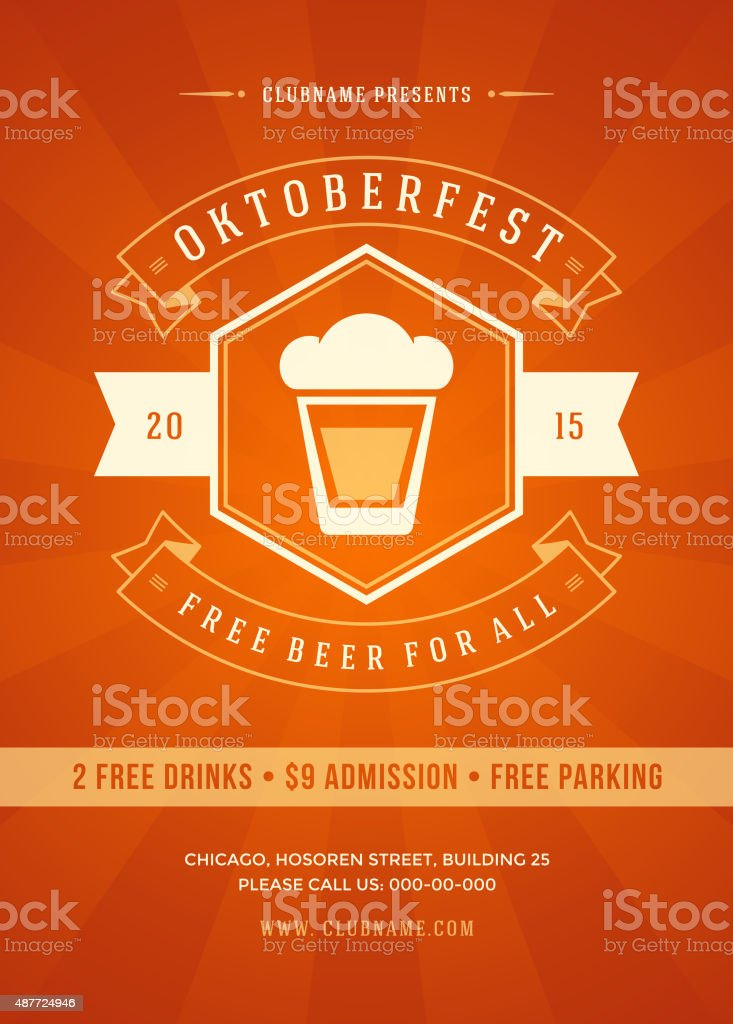 Oktoberfest beer festival poster or flyer template stock vector oktoberfest beer festival poster or flyer template royalty free stock vector art pronofoot35fo Gallery
