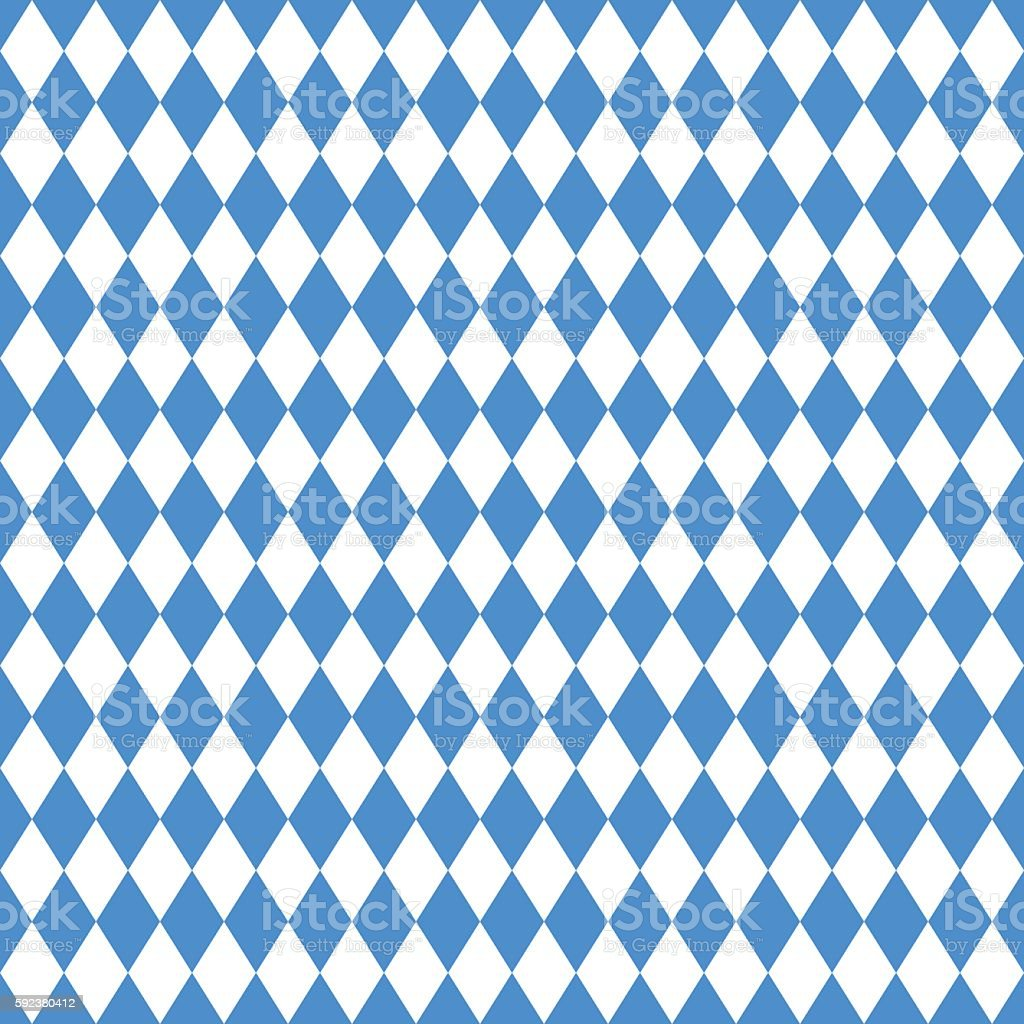 Oktoberfest blue rhombus background – Vektorgrafik